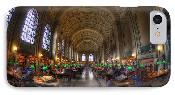 Boston Public Library Reading Room IPhone Case