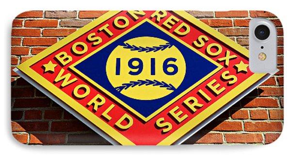 Boston Red Sox 1916 World Champions Phone Case by Stephen Stookey