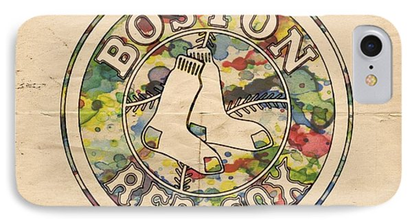 Boston Red Sox Poster IPhone Case by Florian Rodarte