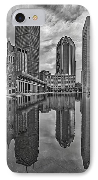 Boston Reflections Bw IPhone Case by Susan Candelario