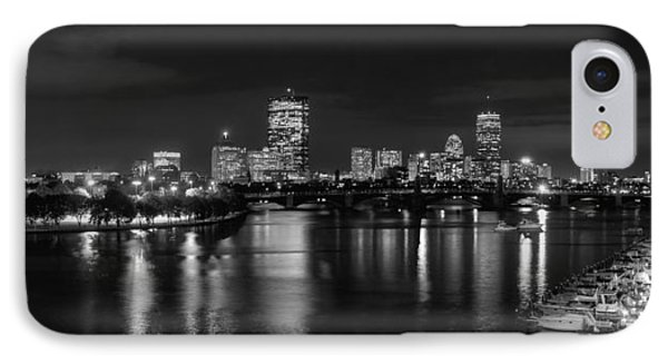 Boston Skyline - Black And White IPhone Case by Joann Vitali