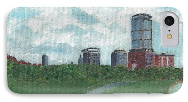 Boston Skyline 1968 Phone Case by Cliff Wilson