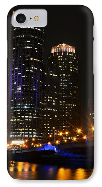 Boston Skyline At Night IPhone Case by Toby McGuire