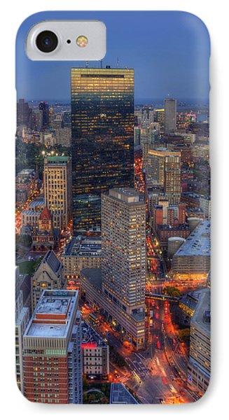Boston Skyline Back Bay Reflections IPhone Case