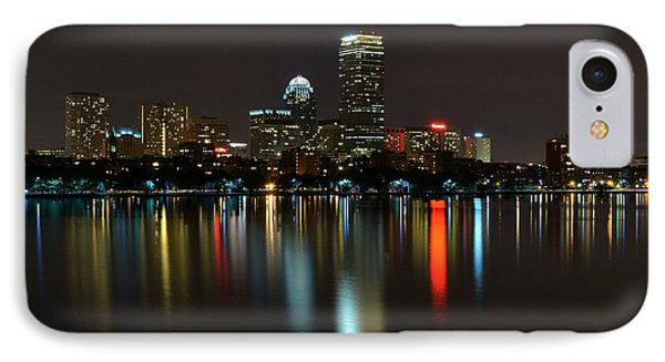 Boston Skyline By Night IPhone Case