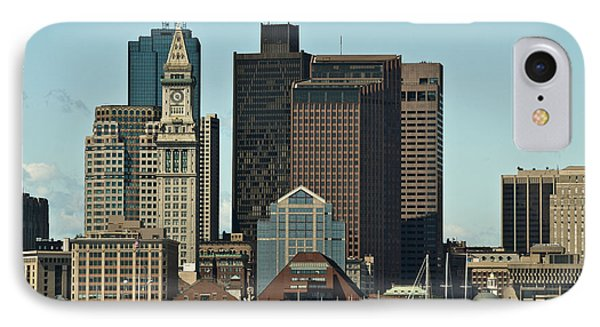 IPhone Case featuring the photograph Boston Skyline by Caroline Stella