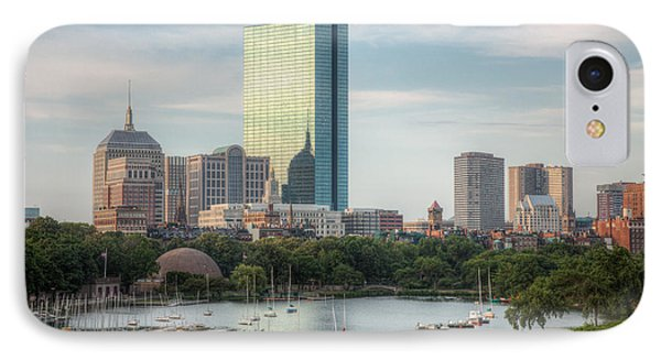 Boston Skyline I IPhone Case by Clarence Holmes