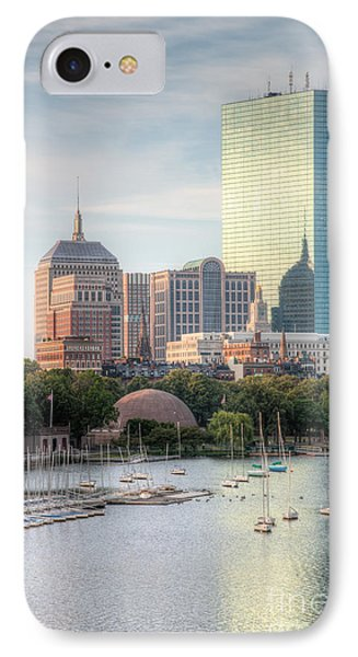 Boston Skyline II IPhone Case by Clarence Holmes
