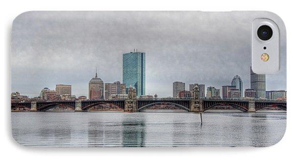 Boston Skyline On A Grey Day Phone Case by Joann Vitali