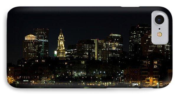 Boston Skyline On An Autumn Night IPhone Case by John Hoey