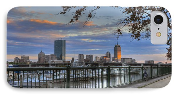 Boston Skyline On The Charles River IPhone Case by Joann Vitali