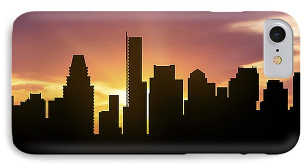 Boston Skyline Panorama Sunset IPhone Case by Aged Pixel