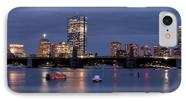 Boston Skyline Panoramic - Blue Nights IPhone Case