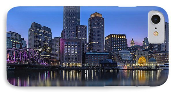 Boston Skyline Seaport District IPhone Case by Susan Candelario