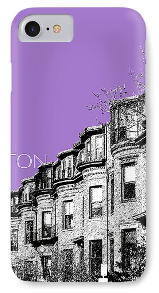 Boston South End - Violet IPhone Case by DB Artist