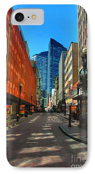 Boston Street IPhone Case by Joann Vitali