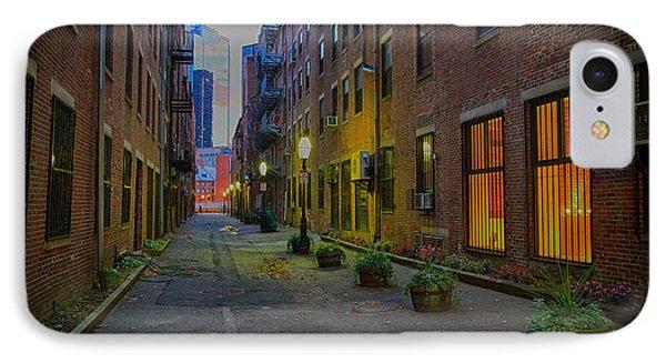 Boston Street IPhone Case by John Hoey