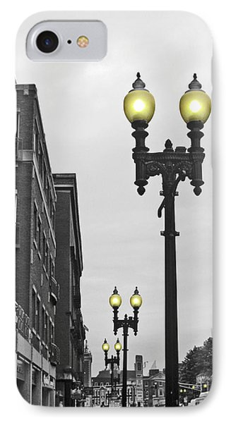 IPhone Case featuring the photograph Boston Streetlamps by Cheryl Del Toro