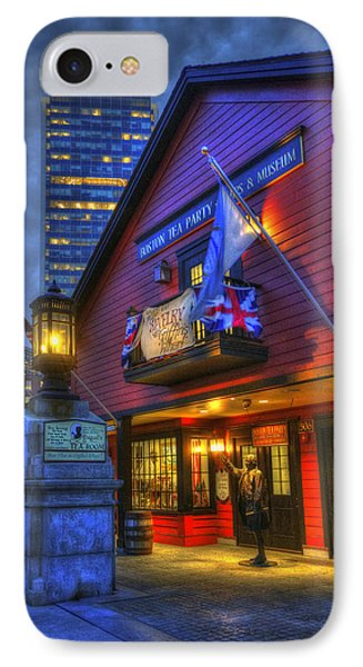 Boston Tea Party Museum At Night IPhone Case