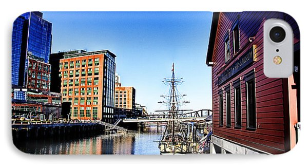 Boston-teaparty V2 IPhone Case by Douglas Barnard