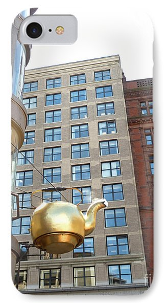 IPhone Case featuring the photograph Boston Teapot - Color by Cheryl Del Toro