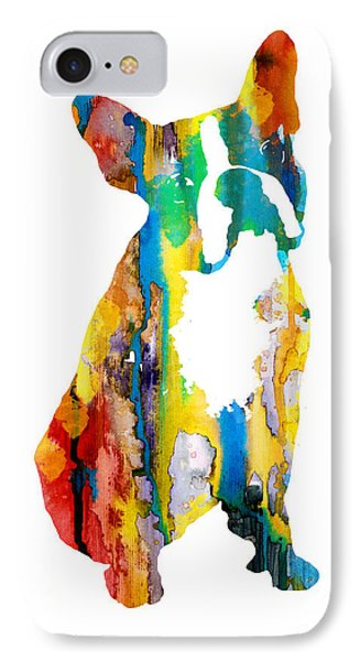 Boston Terrier 3 IPhone Case by Watercolor Girl