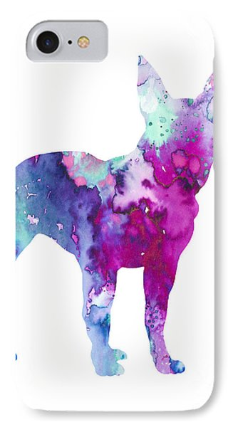 Boston Terrier 4 IPhone Case by Watercolor Girl