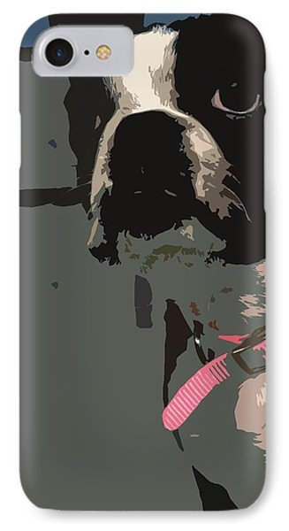 IPhone Case featuring the digital art Boston Terrier Art01 by Donald Williams