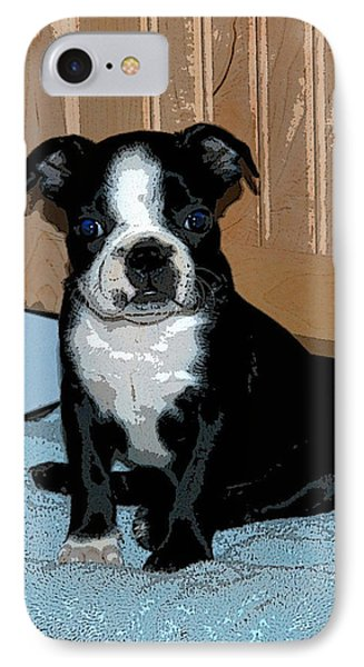 IPhone Case featuring the photograph Boston Terrier Art02 by Donald Williams
