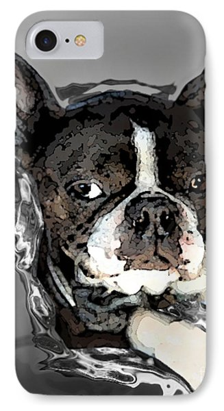 Boston Terrier.  Channeling Peter Lorre Phone Case by Peter Mix