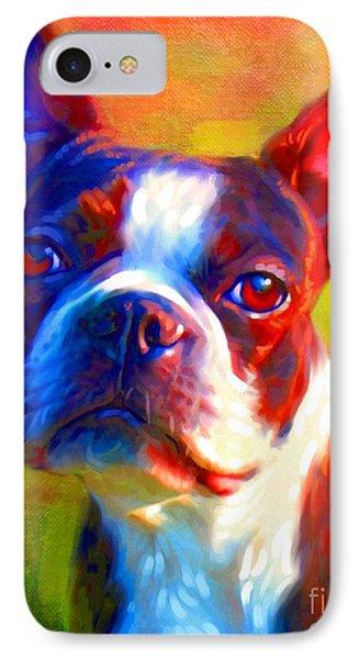 Boston Terrier Portrait IPhone Case by Iain McDonald