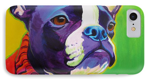 Boston Terrier - Ridley IPhone Case by Alicia VanNoy Call