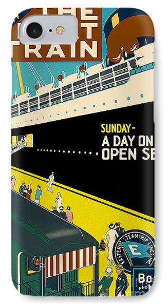 Boston Vintage Travel Poster IPhone Case by Jon Neidert