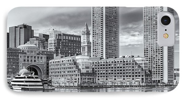 Boston Waterfront Skyline And Rowes Wharf II IPhone Case by Clarence Holmes