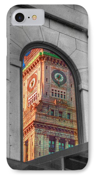 Boston's Custom House IPhone Case by Joann Vitali