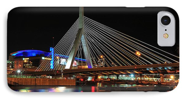 IPhone Case featuring the photograph Boston's Zakim-bunker Hill Bridge by Mitchell R Grosky