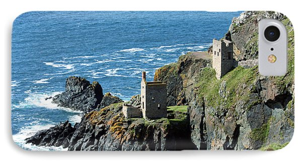 Botallack Crown Engine Houses Cornwall IPhone Case by Terri Waters