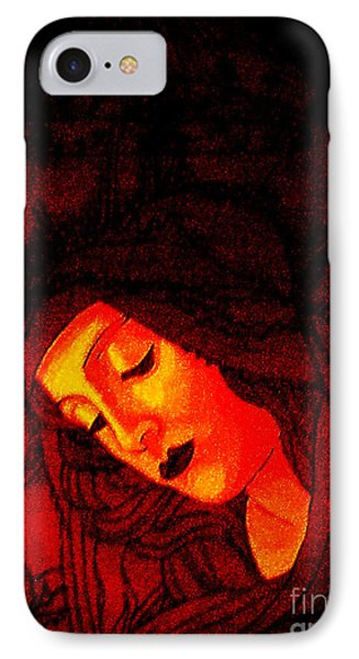 Botticelli Madonna In The Light IPhone Case by Genevieve Esson