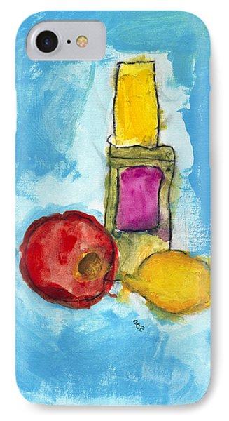 Bottle Apple And Lemon Phone Case by Skip Nall