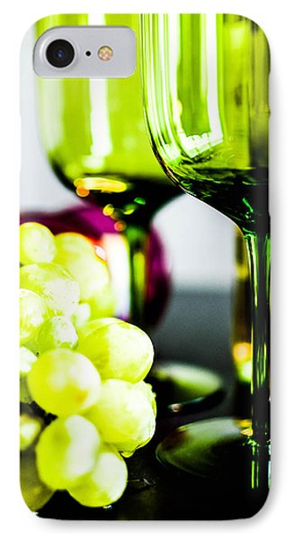 Bottle Glass And Grapes In Delightful Mix IPhone Case