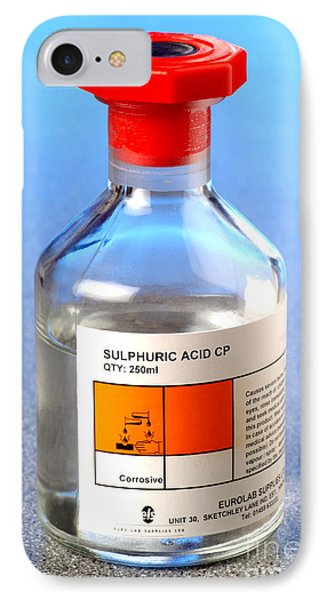 Bottle Of Sulphuric Acid IPhone Case by Martyn F. Chillmaid