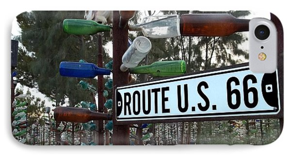 Bottle Trees Route 66 IPhone Case by Glenn McCarthy Art and Photography