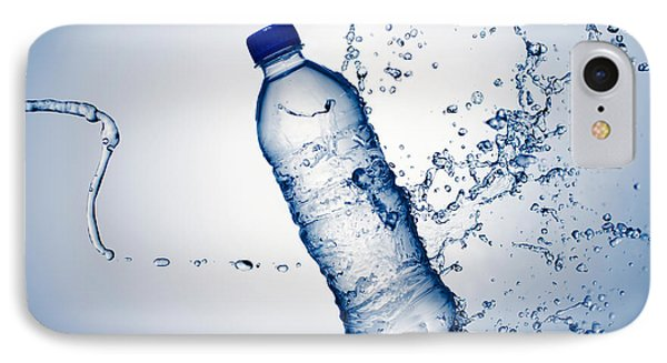 Bottle Water And Splash Phone Case by Johan Swanepoel