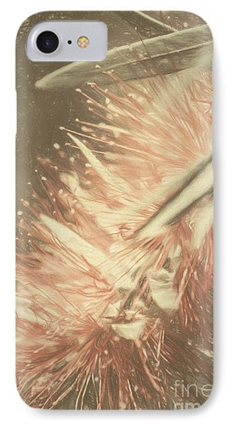 Bottlebrush Fine Art Illustration IPhone Case by Jorgo Photography - Wall Art Gallery