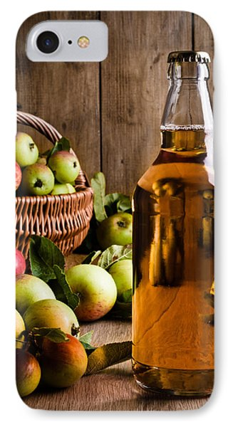 Bottled Cider With Apples Phone Case by Amanda Elwell