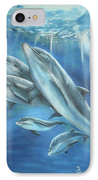 Bottlenose Dolphins IPhone Case by Thomas J Herring