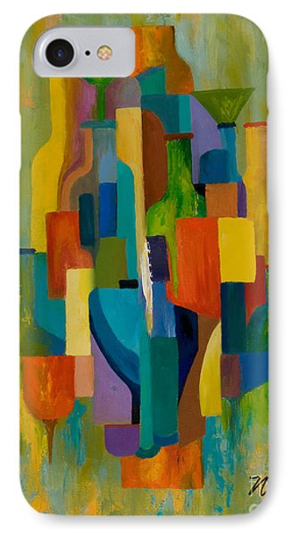 Bottles And Glasses Phone Case by Larry Martin