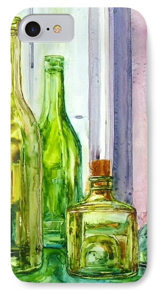Bottles - Shades Of Green IPhone Case