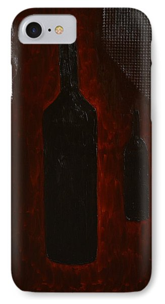 IPhone Case featuring the painting Bottles by Shawn Marlow