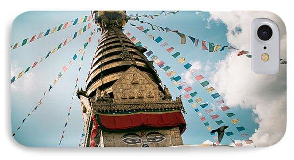 Boudhnath Stupa In Nepal Phone Case by Raimond Klavins